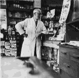 Walter in his Pharmacy